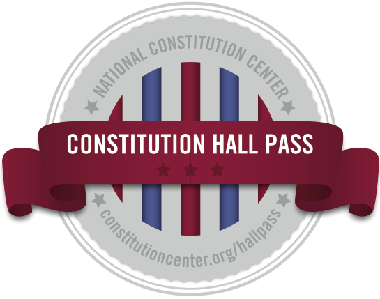 Constitution Day Hall Pass Logo from the National Constitution Center