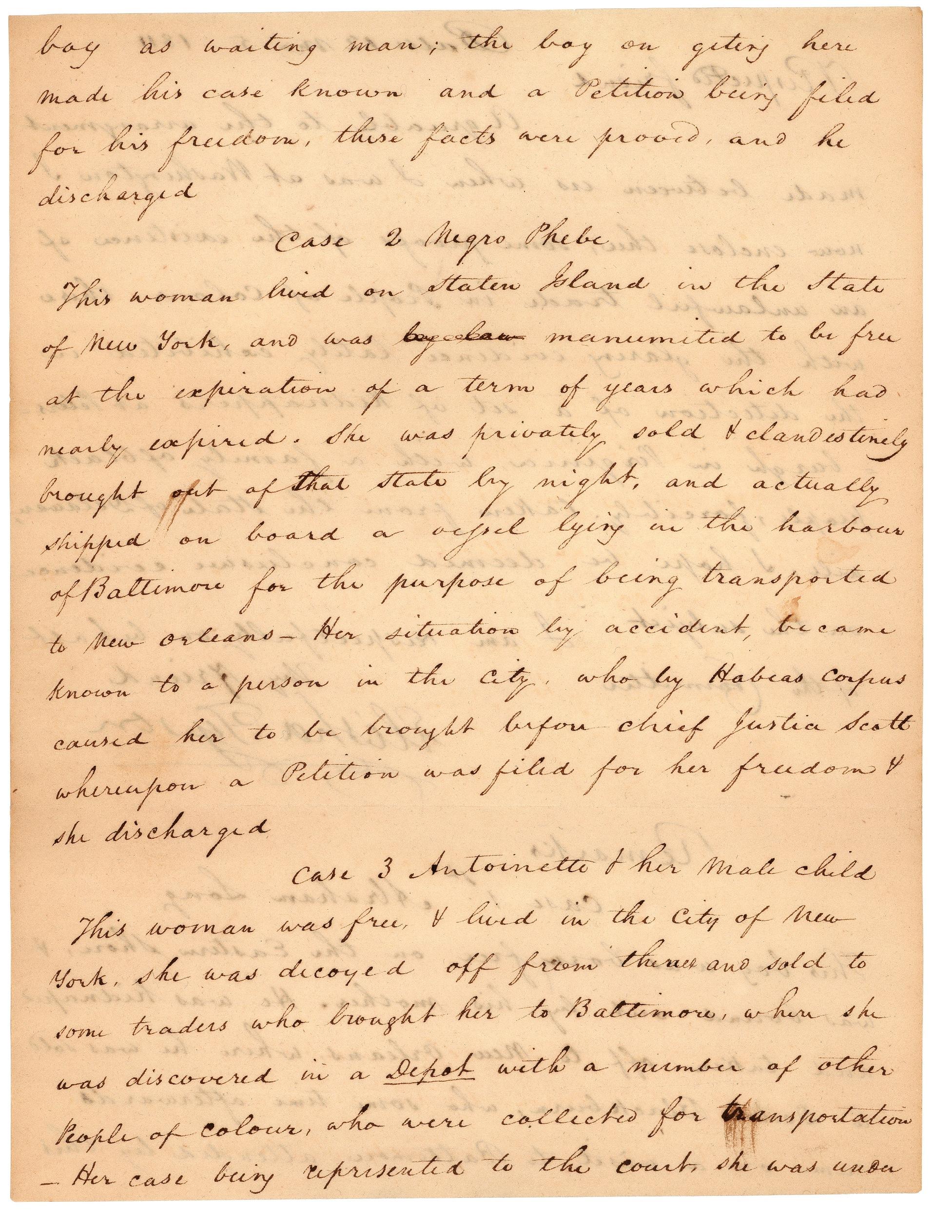 Letter from Elisha Tyson regarding kidnapped free blacks, December 5, 1811, page 2.