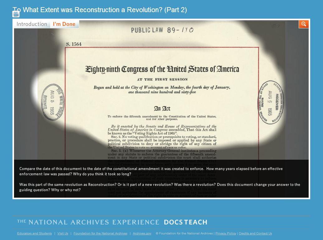 DocsTeach screenshot