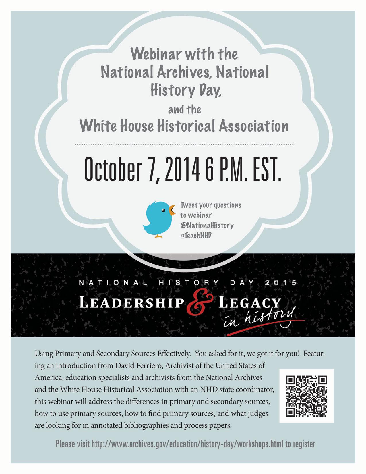 Oct 7 NHD Webinar Flyer