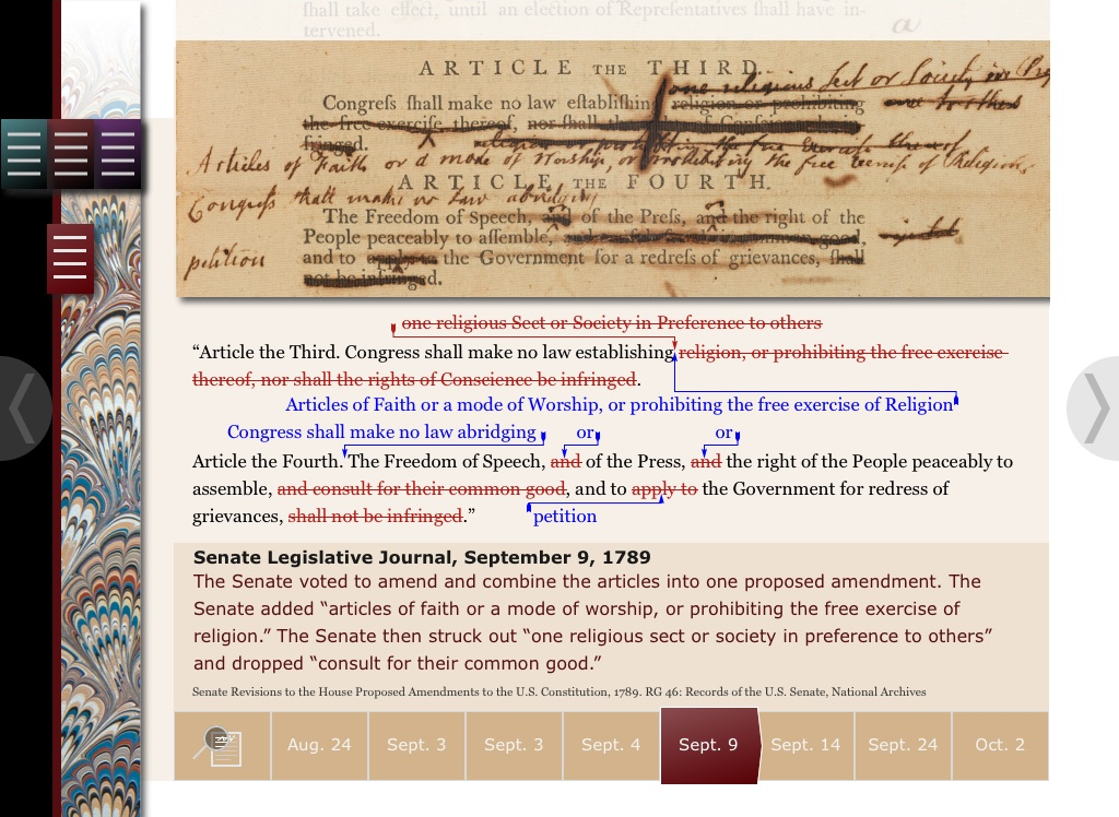 Close-up on Compromise in Bill of Rights App