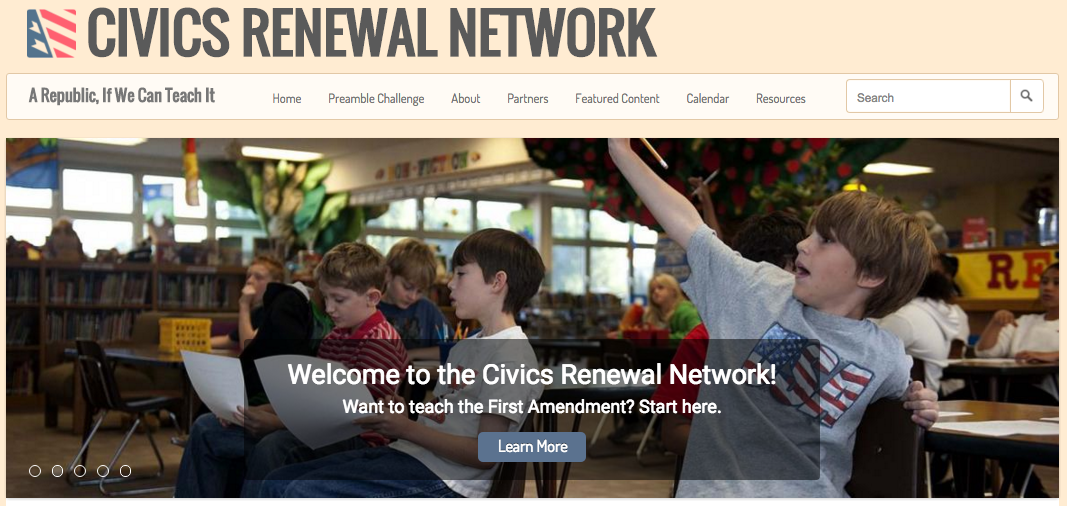 Civics Renewal Network home page