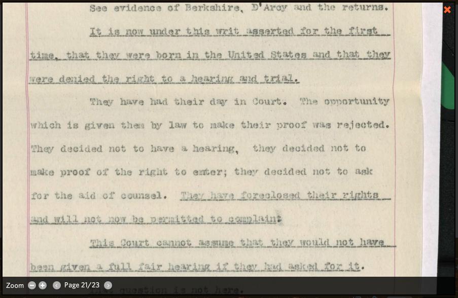 Page of Habeas Corpus Brief