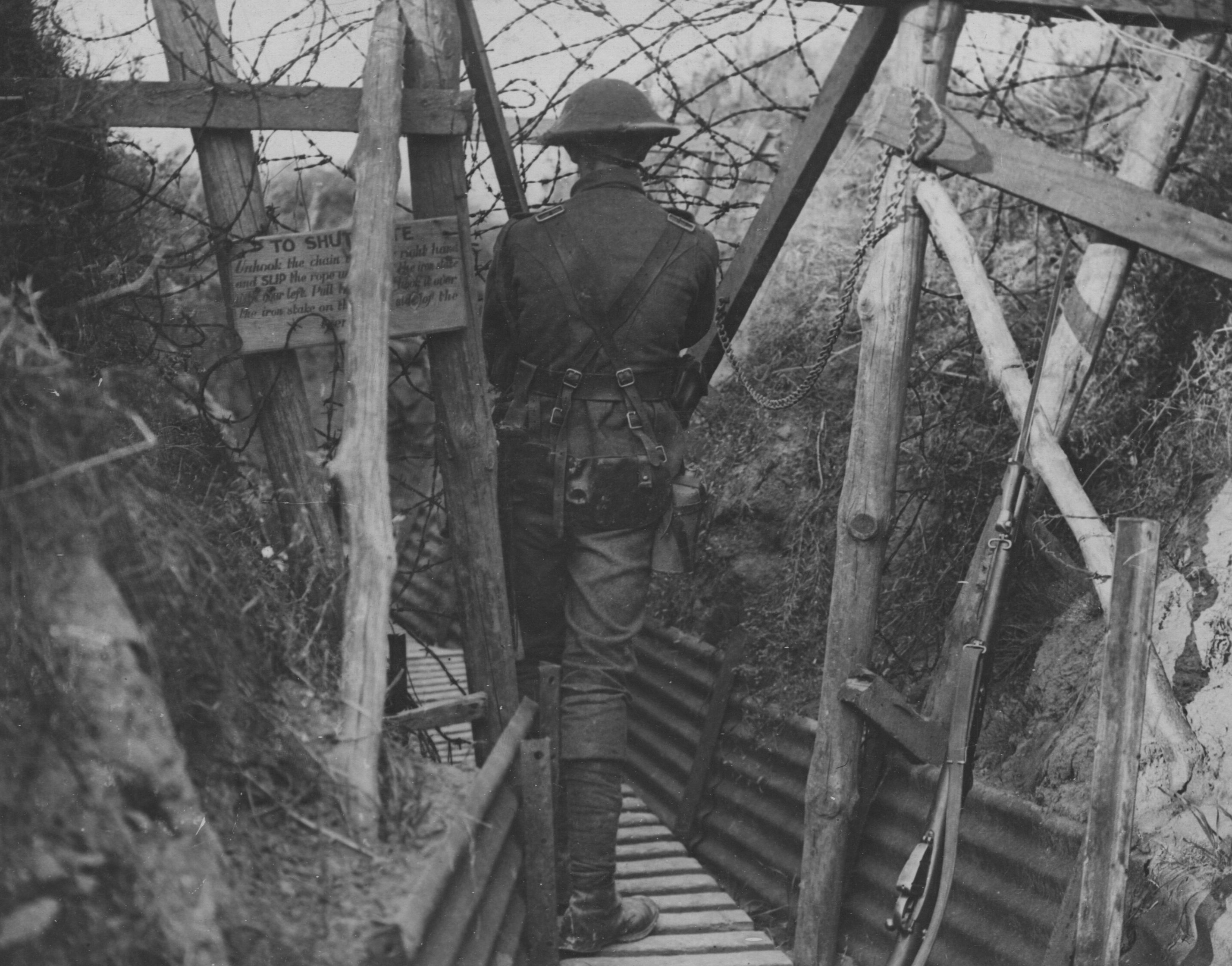 Barbed Wire Gate to Trench