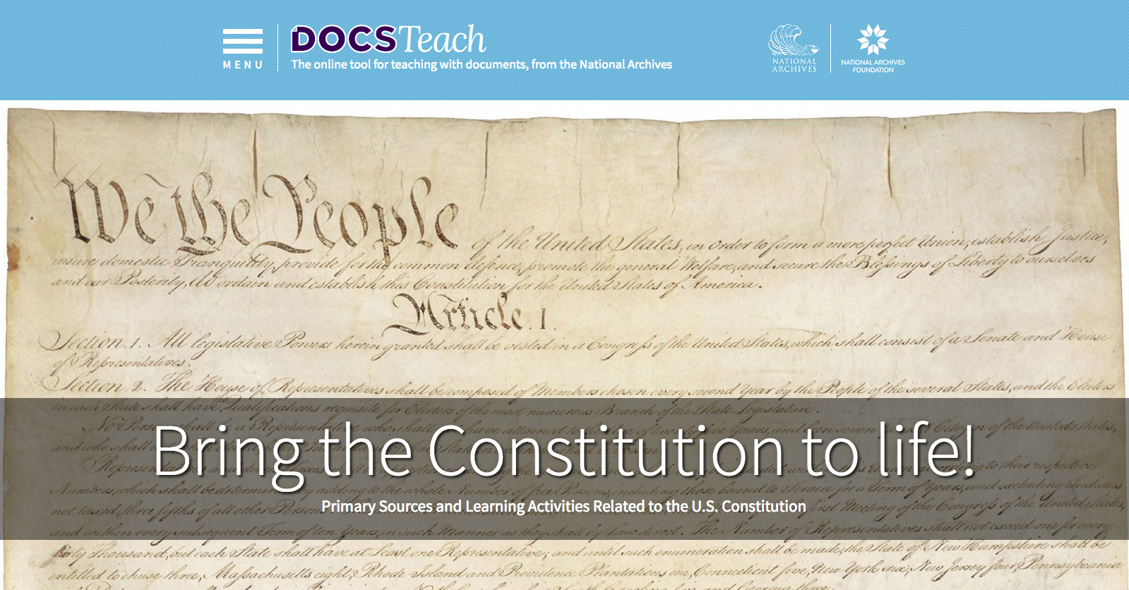 Bring the Constitution to Life