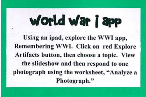 World War I app