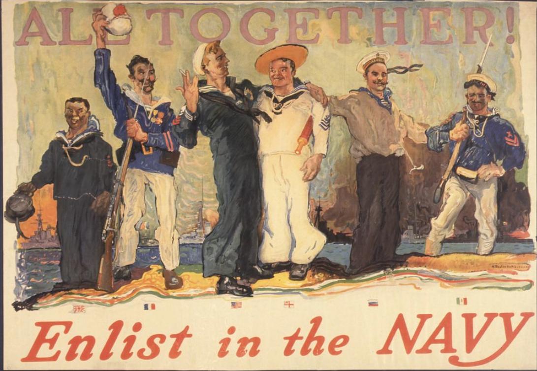 Enlist in the Navy poster