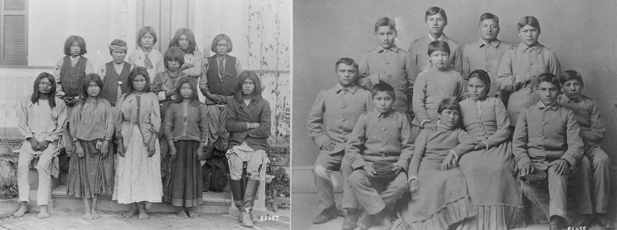 Chiracahua Apache Students at Carlisle Indian School