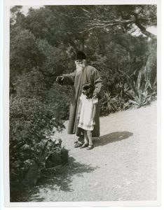 Rabindranath Tagore Showing his Granddaughter the Beauties of Nature