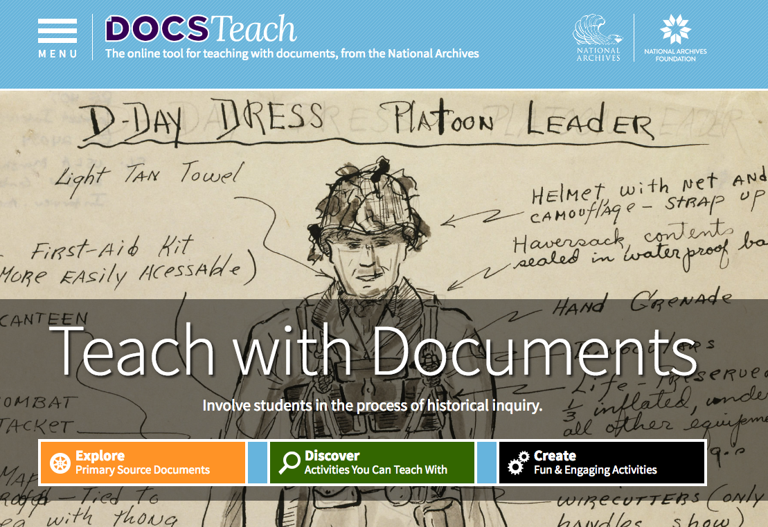 DocsTeach Home Page