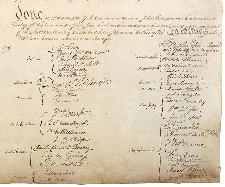 Constitution Signing Page