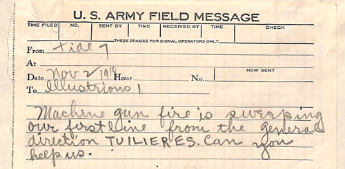 US Army Field Message