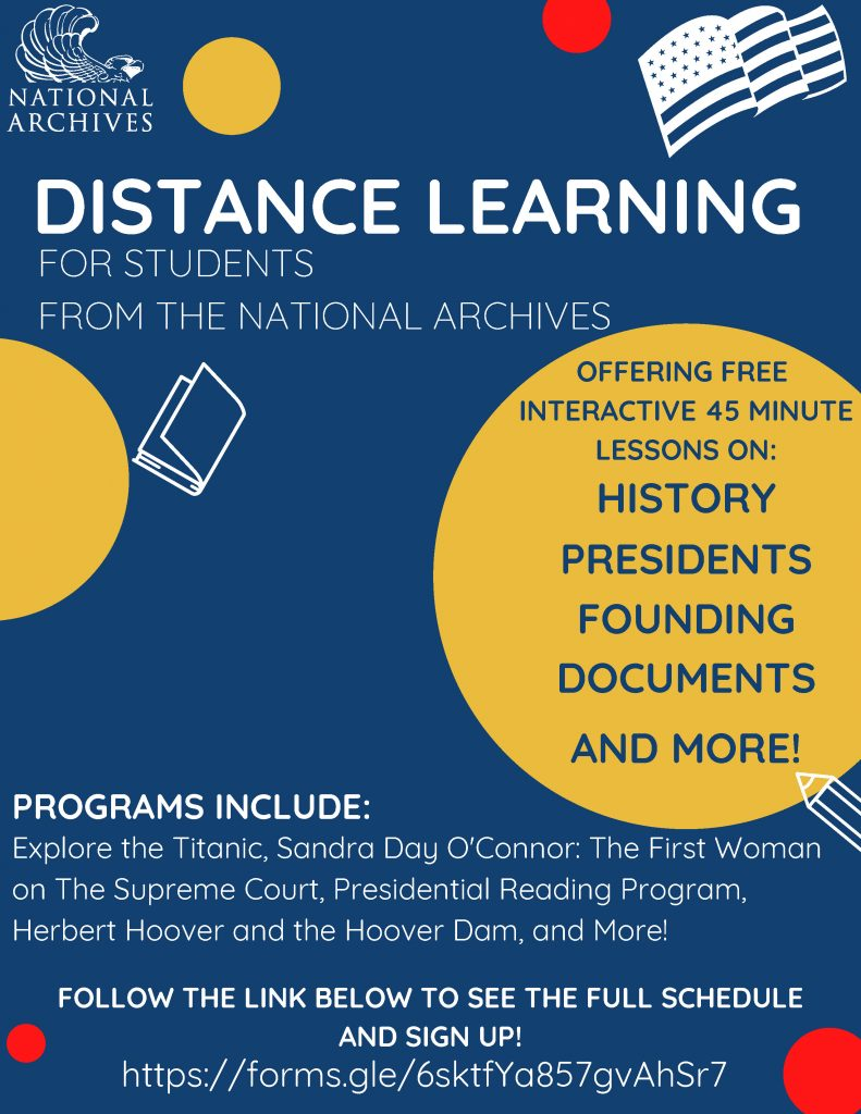 Distance Learning for students from the National Archives