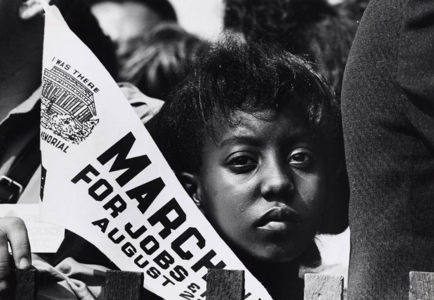 Girl at March on Washington