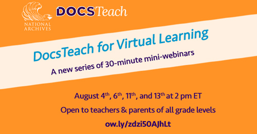 DocsTeach for Virtual Learning