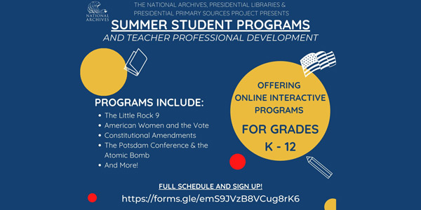 Summer Student Programs and Teacher Professional Development