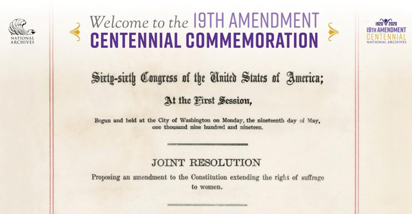 19th Amendment Centennial Commemoration