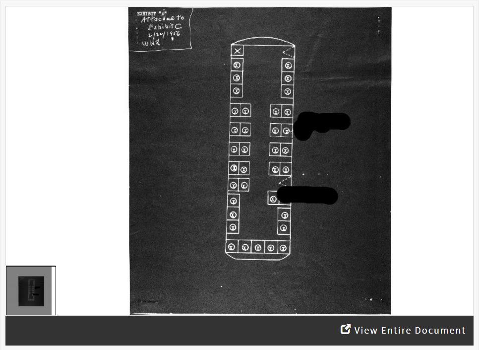Activity showing diagram where Rosa Parks sat