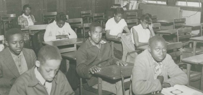 Students in classroom in Moton High School