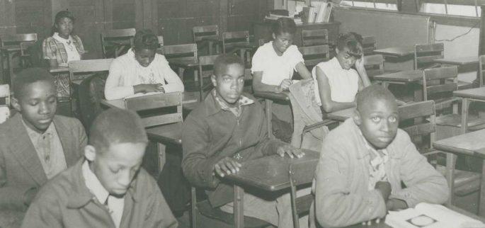 Students in classroom in Moton High School