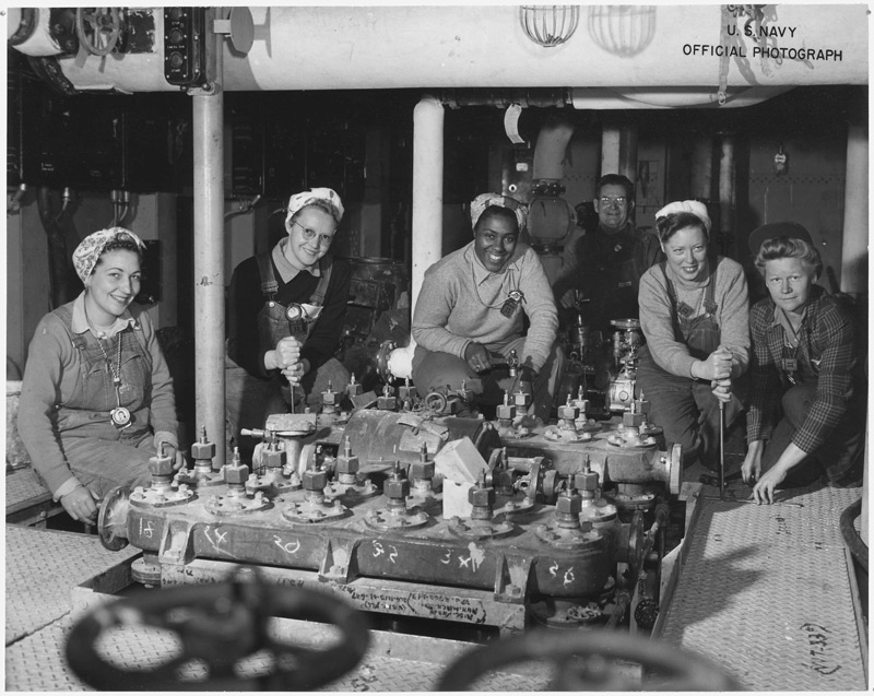 Women working at a factory